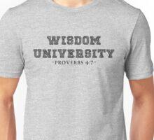 WISDOM UNIVERSITY BLK Unisex T-Shirt