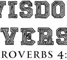 WISDOM UNIVERSITY BLK Sticker