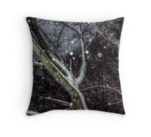 Trees In The SnowStorm Throw Pillow