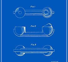 Telephone Handset Patent - Blueprint by FinlayMcNevin