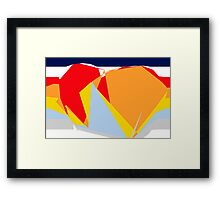 CONTINENTS. Framed Print