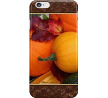 Pumpkins, Gourds and Maple Leaves iPhone Case/Skin