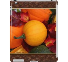 Pumpkins, Gourds and Maple Leaves iPad Case/Skin