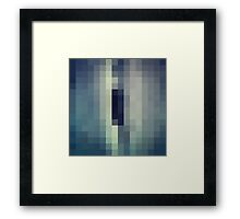 A hole in a wood Framed Print