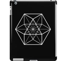 White on Black cube-octahedron  iPad Case/Skin