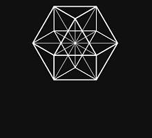 White on Black cube-octahedron  Unisex T-Shirt