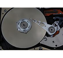 Inside Disk Drive Photographic Print