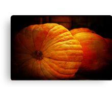 Big Orange Pumpkins Canvas Print