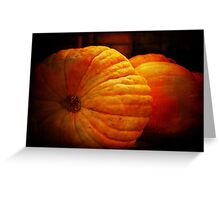 Big Orange Pumpkins Greeting Card