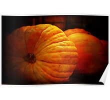 Big Orange Pumpkins Poster