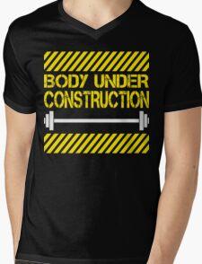 Body under construction Mens V-Neck T-Shirt