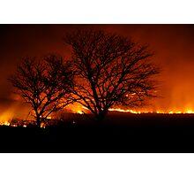 Burning of the Flint Hills Photographic Print