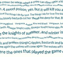 A Song of ice and fire quotes by elaenatargaryen