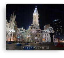Philadelphia - City Hall. Canvas Print