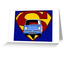 Reliant Supervan Greeting Card