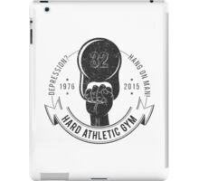 Athletic sport logo old school style iPad Case/Skin