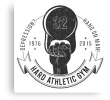 Athletic sport logo old school style Canvas Print