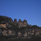 Three Sisters Mountains by Hunnie