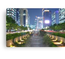 Light Show on the Cheonggyecheon Canvas Print