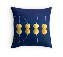 six cherries Throw Pillow