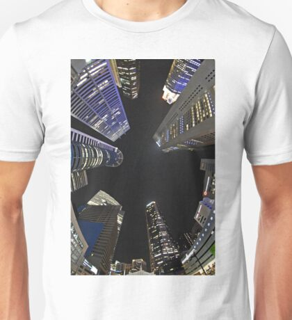Raffles Plaza in Fisheye Unisex T-Shirt
