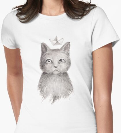 Dream cat Womens Fitted T-Shirt