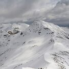Am Bodach from Stob Coire high above Glen Nevis. by John Cameron