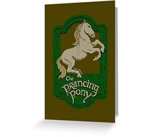 Prancing Poney Greeting Card