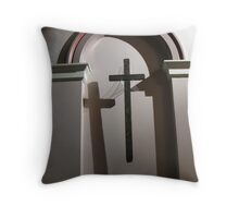 Cross in Shadow Throw Pillow