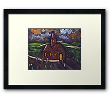 Going to chapel Framed Print