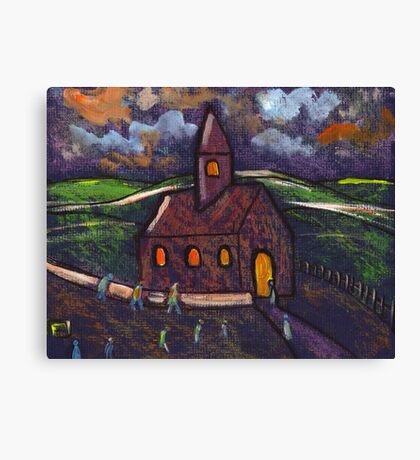 Going to chapel Canvas Print