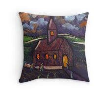Going to chapel Throw Pillow