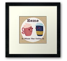 Cute Coffee Couple Framed Print