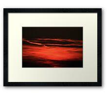 Sunset  Crescendo Framed Print
