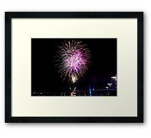 Melbourne New Year 2014/15 12 Framed Print
