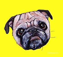Butch the Pug - Yellow by PAINTMYPUG