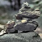 Stack of Rocks on the Trail (HDR) by Christian Eccleston