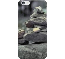 Stack of Rocks on the Trail (HDR) iPhone Case/Skin