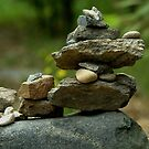 Stack of Rocks on the Trail by Christian Eccleston