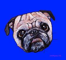 Butch the Pug - Blue by PAINTMYPUG