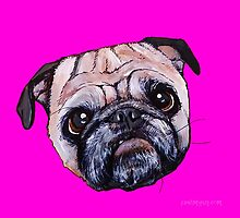 Butch the Pug - Pink by PAINTMYPUG