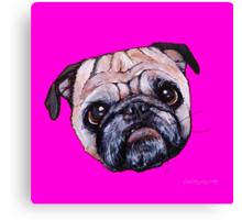 Butch the Pug - Pink Canvas Print