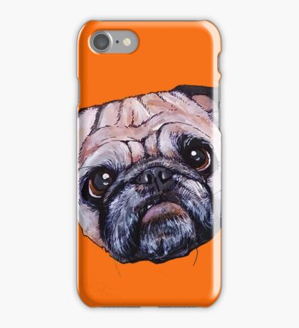 Butch the Pug - Orange iPhone Case/Skin