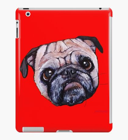 Butch the Pug - Red iPad Case/Skin