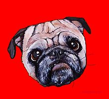 Butch the Pug - Red by PAINTMYPUG