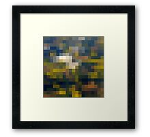 Fields' grid Framed Print
