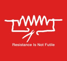 'Resistance Is Not Futile' - T Shirt One Piece - Short Sleeve