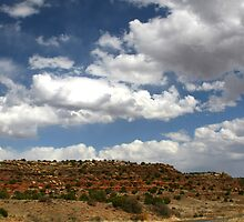 RED BLUFFS IN NEW MEXICO by Patricia Montgomery
