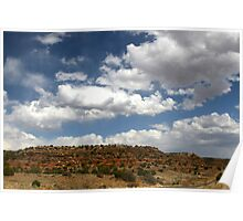 RED BLUFFS IN NEW MEXICO Poster