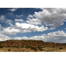 RED BLUFFS IN NEW MEXICO Photographic Print